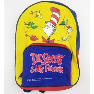 Dr Seuss And His Friends Kids Book Bag Tote Travel